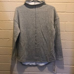 A new day mock neck sweatshirt